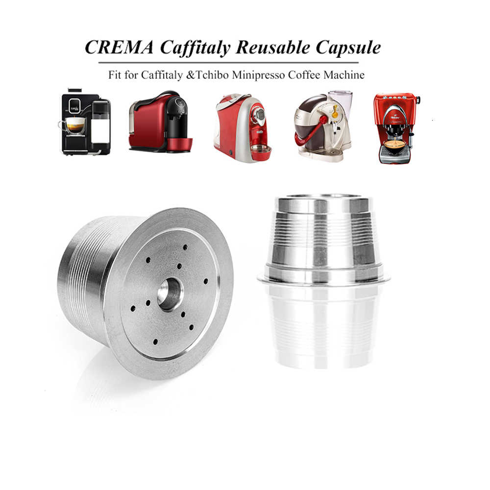 Stainless Steel Cafeteira Capsule For Caffitaly Tchibo Cafissimo ALDI Expressi Refillable Wacaco K-fee Coffee Pod Drip Filters