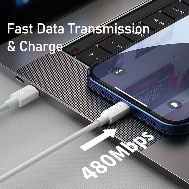 Baseus USB C Cable for iPhone 12 11 20W PD Fast Charge USB C to Lighting Cable for iPhone 8 Xr Charger Data USB Type C Cable 5