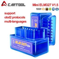 Super Mini ELM327 V1.5 PIC18F25K80 Chip OBD2 Diagnostic Scanner Elm 327 Bluetooth/Wifi V1.5 OBDII Adapter Auto Diagnostic Tool