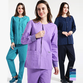 Unisex Long sleeved Beauty Salon clothes Work clothes High Quality Pet grooming Scrubs coats lab work wear Spa Uniform wholesale work wear set long sleeve factory working clothes worker uniform repair service uniform