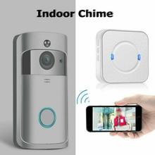 WiFi Smart Wireless Door Bell Camera Video Indoor of Chime Doorbell Ring smart W