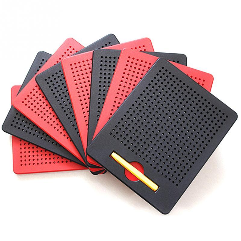 Placa magnética da pena do desenho da tabuleta da almofada do esboço da bola com o estilete magnético crianças aprendendo a placa de desenho portátil montessori brinquedo