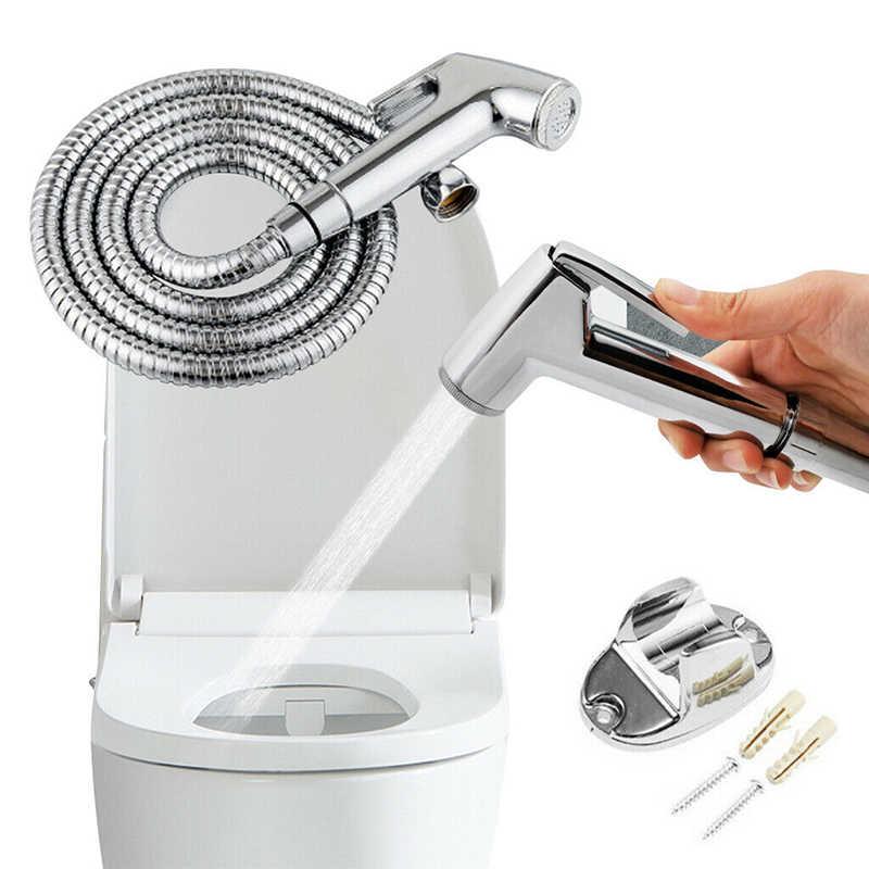 Chrome łazienka słuchawka prysznicowa głowy Douche Bidet wc rozpylacz zestaw węży Pro marka nowy