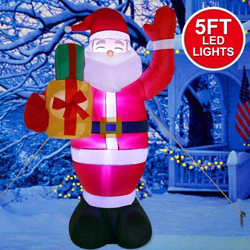 OurWarm 150 سنتيمتر سانتا كلوز عيد الميلاد نفخ الديكور ليلة ضوء الرقم في الهواء الطلق حديقة ساحة زينة حفلة عيد الميلاد