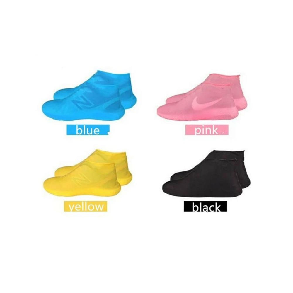 Reusable Silicone Waterproof Shoe Cover Boots Unisex Shoes Protectors Rain Boots For Outdoor Rainy Days Four Color