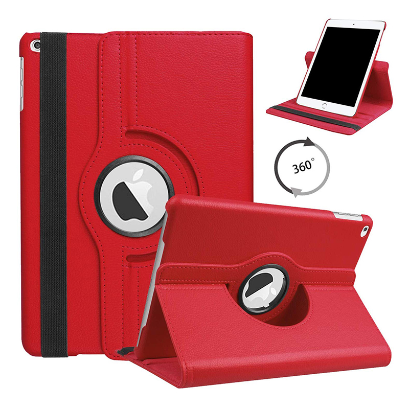 10.2 RED Red For iPad 10 2 2019 2020 Smart Cover 360 Degree Rotating Case for Apple iPad 7th
