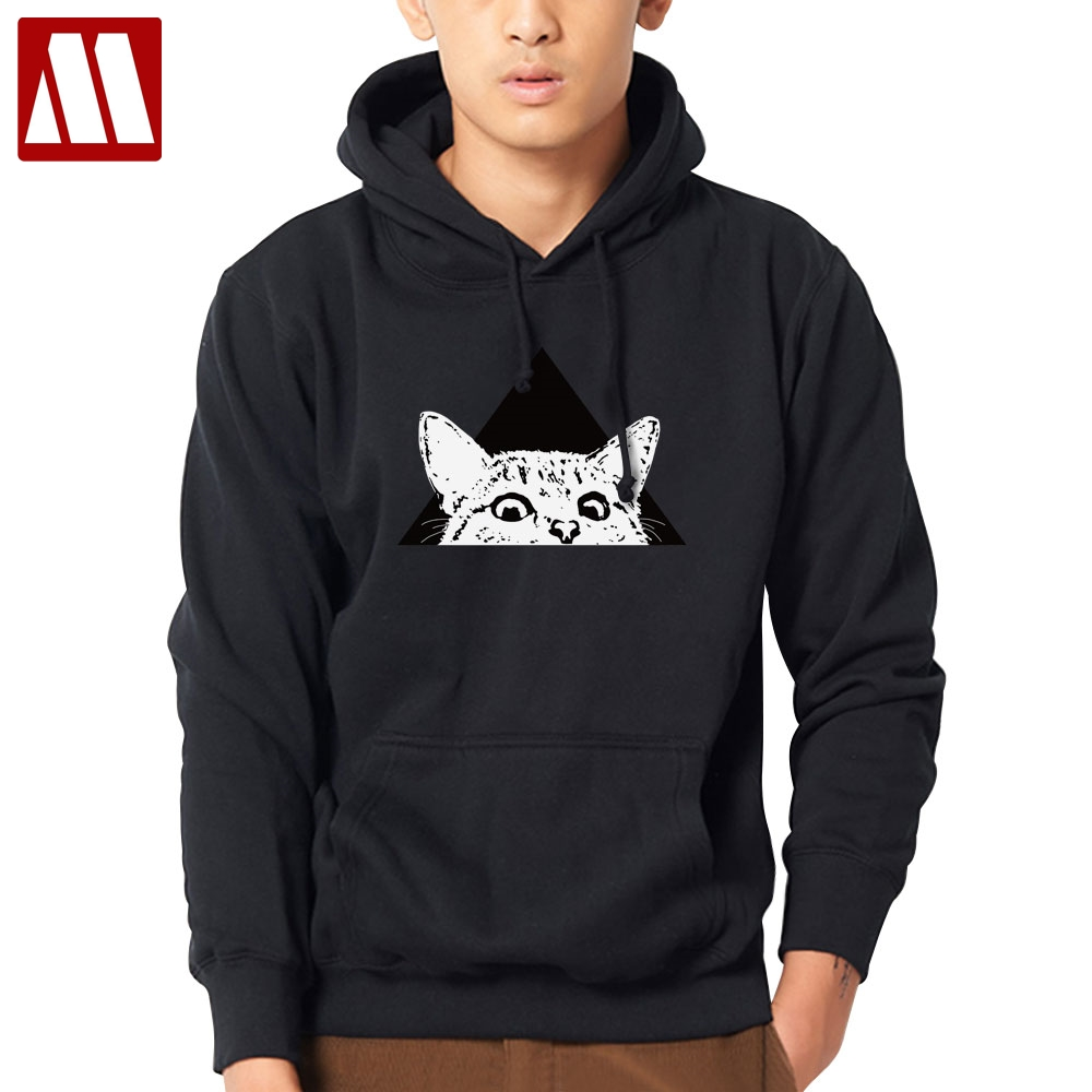The small cat 2019 Hoodies and Sweatshirts Spring Autumn Hip Hop Mens Hoody Hoodies Pullover Fashion Streetwear