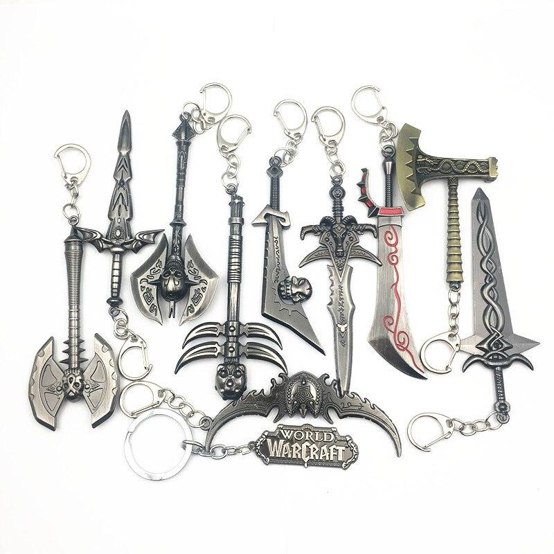 Jogo WOW Chaveiro 12 centímetros Arma Modelo Lich King Frostmourne chaveiro The Horde Aliança Acessórios Chaveiro Lembranças Presentes