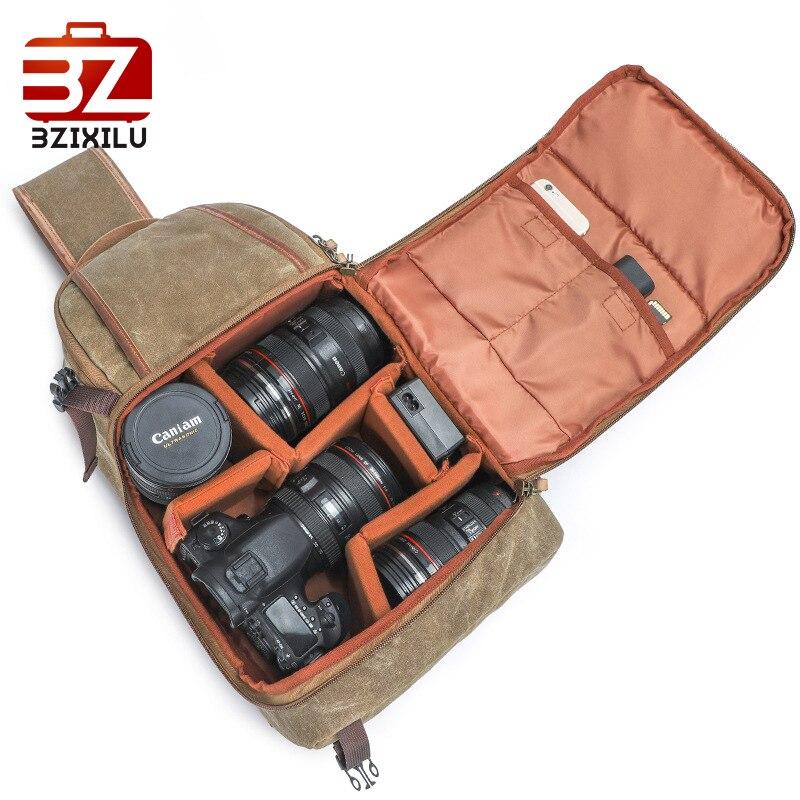BZIXILU sac à bandoulière unisexe sac à bandoulière en toile pour hommes sac souple pour appareil photo sac à bandoulière pour hommes poche à fente quotidienne