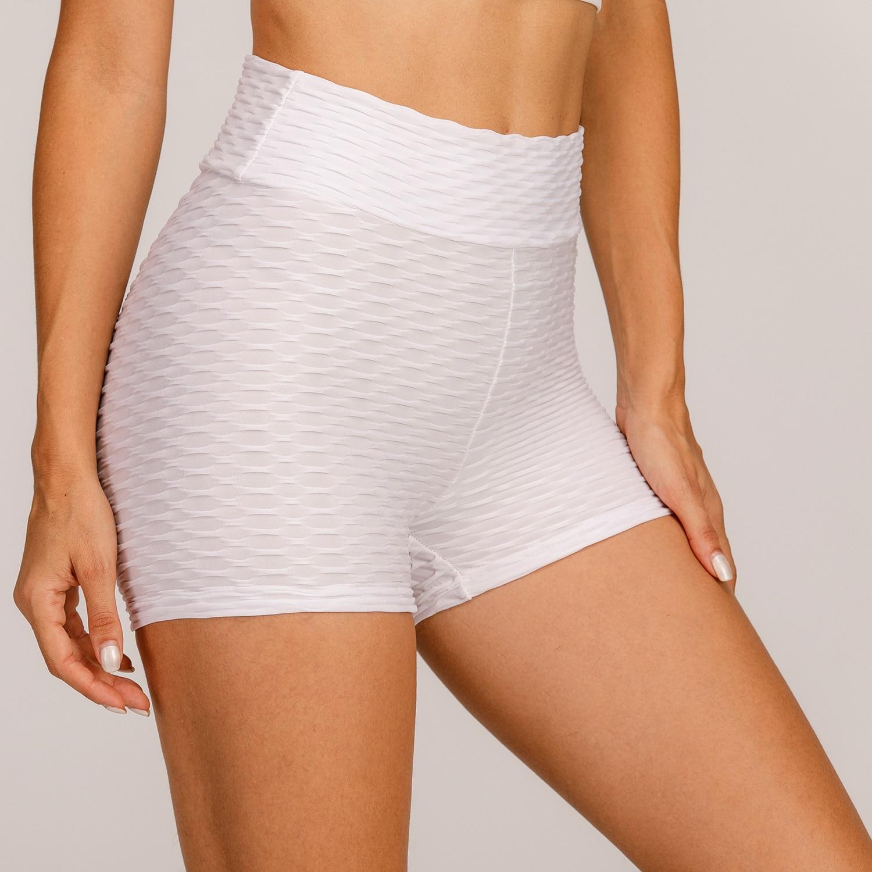 Женские шорты для фитнеса с антицеллюлитной текстурой, эластичные летние шорты с высокой талией 2020, спортивные облегающие шорты с эффектом ...