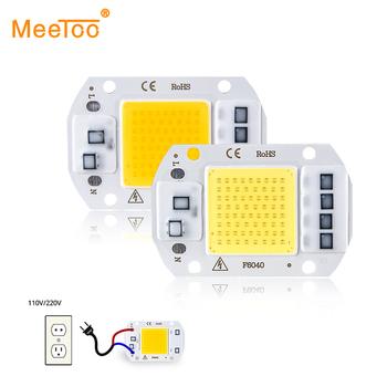 Układ COB lampa LED 50W 30W 20W 10W 3W 5W 7W 9W power LED Chip 220V diody lampy mocne diody LED światła matryca do reflektor reflektor tanie i dobre opinie MeeToo CN (pochodzenie) Piłka Smart IC COB LED Chip Light 240 v 500MA 3W 5W 7W 9W 10W 20W 30W 50W Cold White Warm White