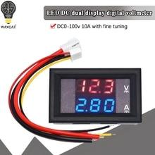 DC 0-100 в 10A цифровой вольтметр Амперметр Двойной дисплей детектор напряжения панель измерителя тока Амперметр 0,28