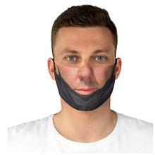Mascarillas faciales de broma para adultos, divertidas máscaras con elásticos para la oreja, mascarilla para la boca con estampado, reutilizable, para Halloween, Cosplay