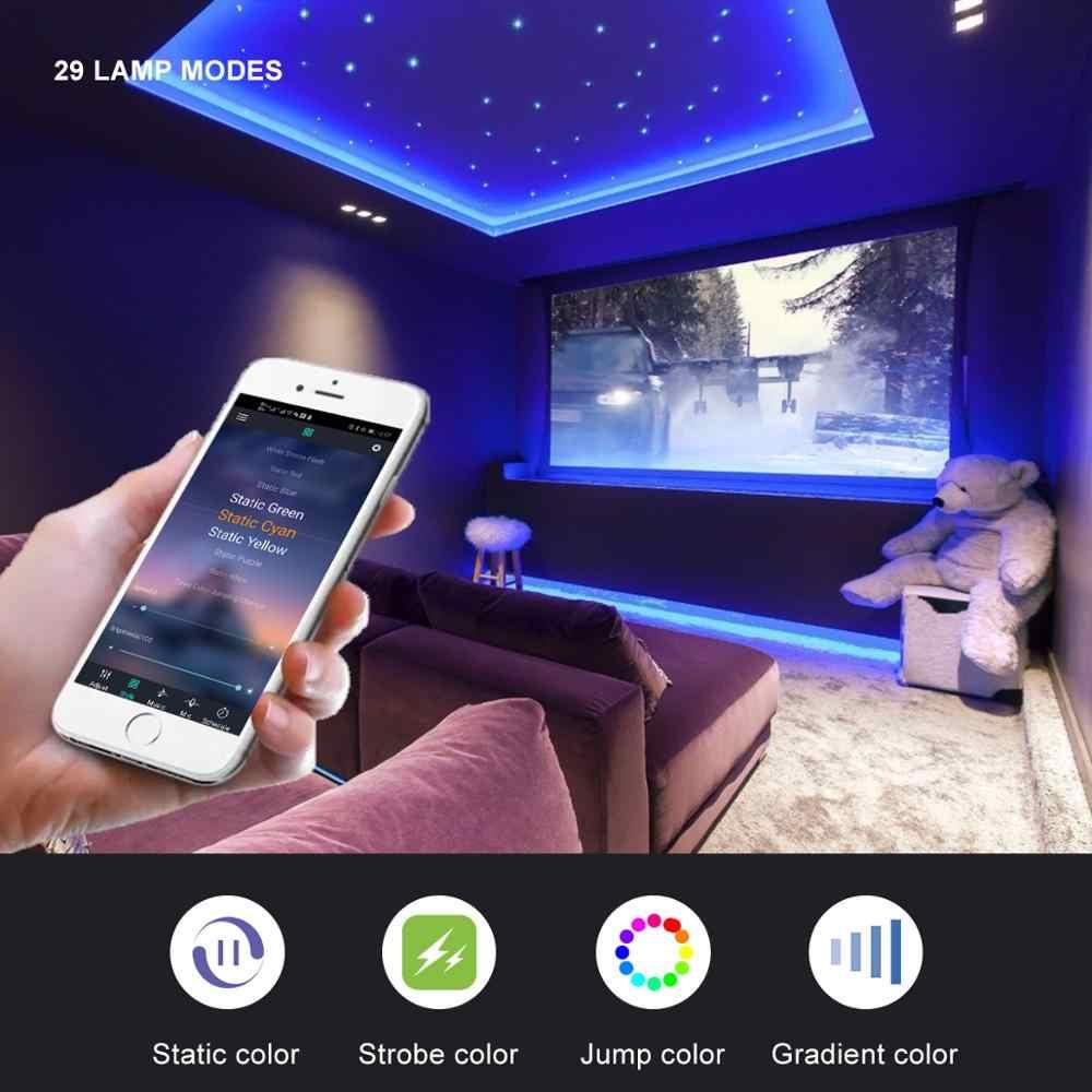 실내 조명 방수 LED 스트립 라이트 캐비닛 주방 원격 제어 LED 밤 램프 1-5m 침실 벽화 TV 장식 조명
