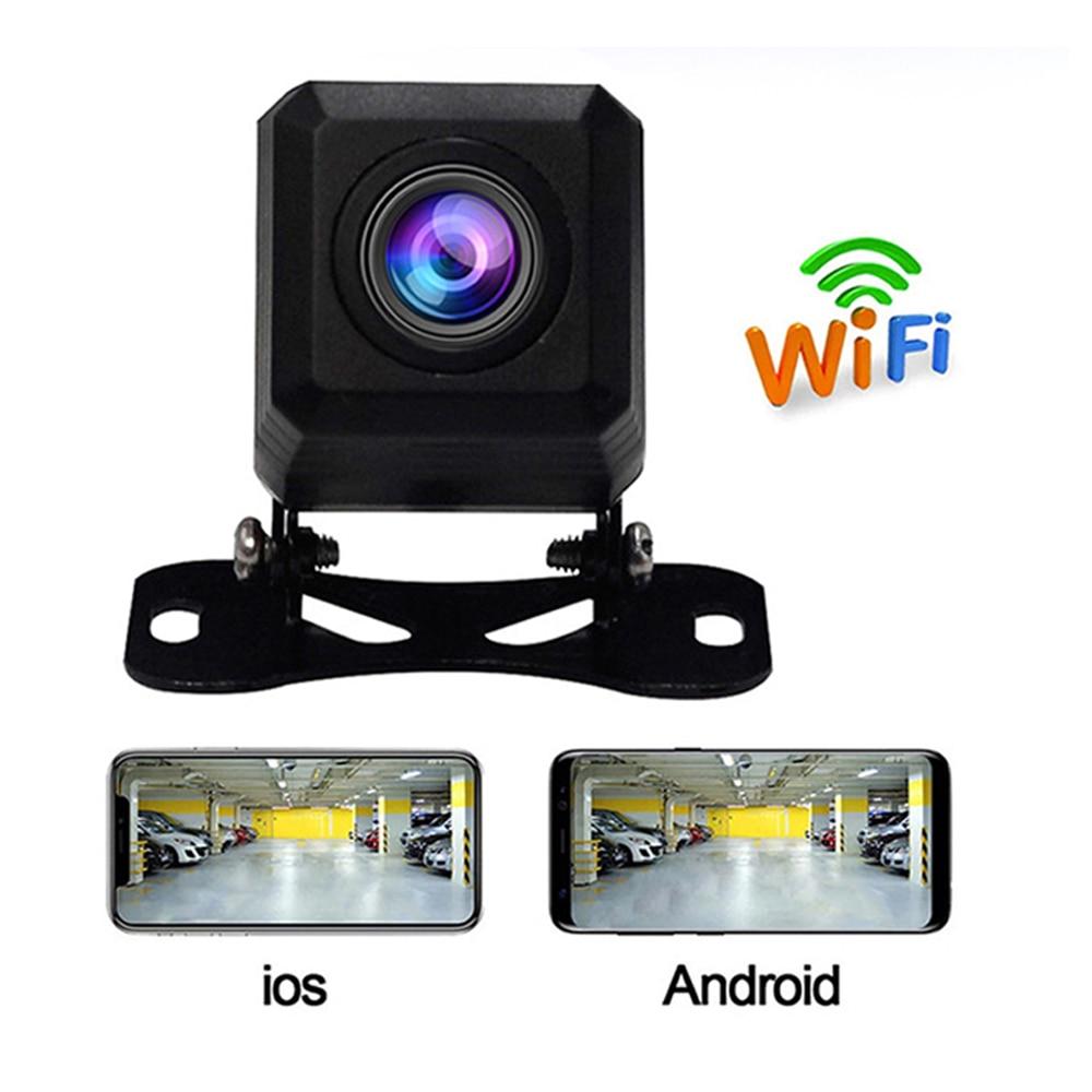 Carsanbo جودة عالية واي فاي كاميرا احتياطية كاميرا الرؤية الخلفية سيارة 2020 جديد المهنية HD سيارة لاسلكية مركبة الكاميرا الأمامية