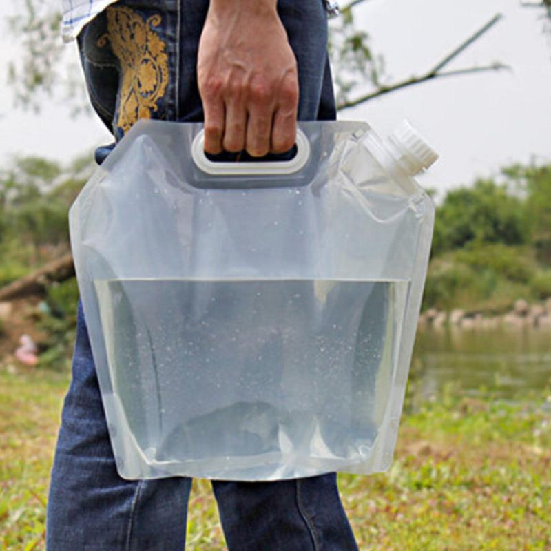 Portable Folding Drinking Water Container Storage Lifting Bag For Camping Hiking Survival Hydration Storage