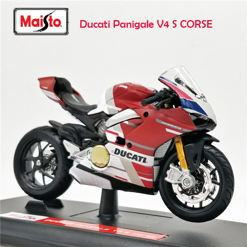 Maisto 1:18 Ducati Panigale V4 S CORSE Diecast Model Motorcycle Toy Bike