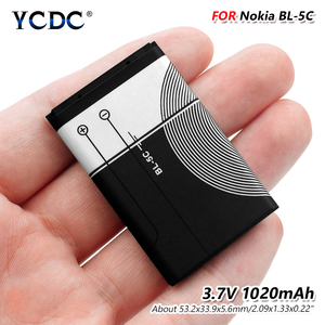3.7V 1020mAh Li-Po BL-5C Battery For Nokia 1100 1101 1110 1112 1208 1600 1680 6100 8208 E61i N97 3220 N90 N-Gage
