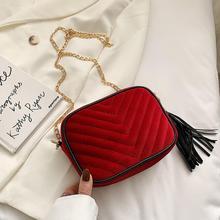 New Luxury Handbags Women Bags 2020 Designer Velvet Chain Messenger Shoulder Bags Small Evening Clutch Crossbody Bags For  #25