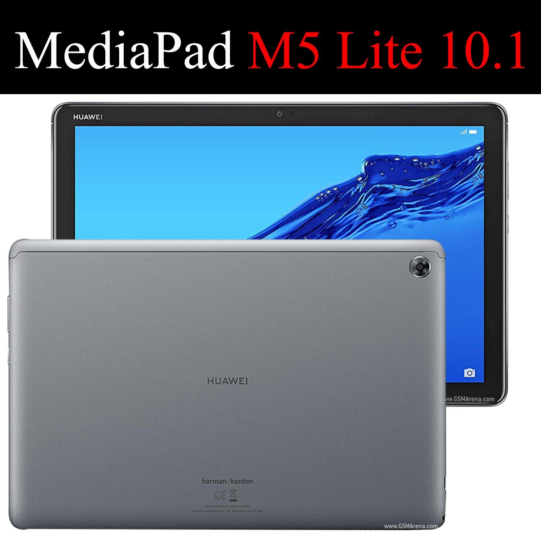 Tablet flip case voor Huawei MediaPad M5 Lite 10.1 schilderen Smart wake Sleep fundas fold Stand cover capa tas voor BAH2 W19/L09 - 6