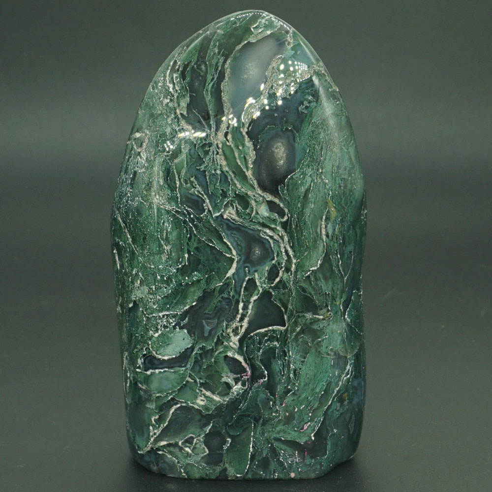 40ct Natural Green Brown Red GARDEN Moss agate ~3 Dimensional Picture~