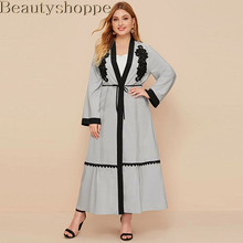 Ramadan Eid Mubarak Abaya Kimono Cardigan Turkey Hijab Muslim Dress Islamic Clothing For Women Dubai Kaftan Oman Robe Ropa Mujer(China)