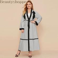 Cardigan Abaya Muslim Dress for Women Dubai Kaftan Oman Robe Ropa-Mujer Kimono Hijab