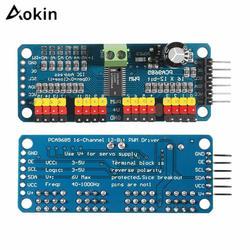 Aokin PCA9685 16-канальный видеорегистратор 12 битная ШИМ сервопривод доска IIC Интерфейс PCA9685 модуль контроллер Arduino Raspberry Pi