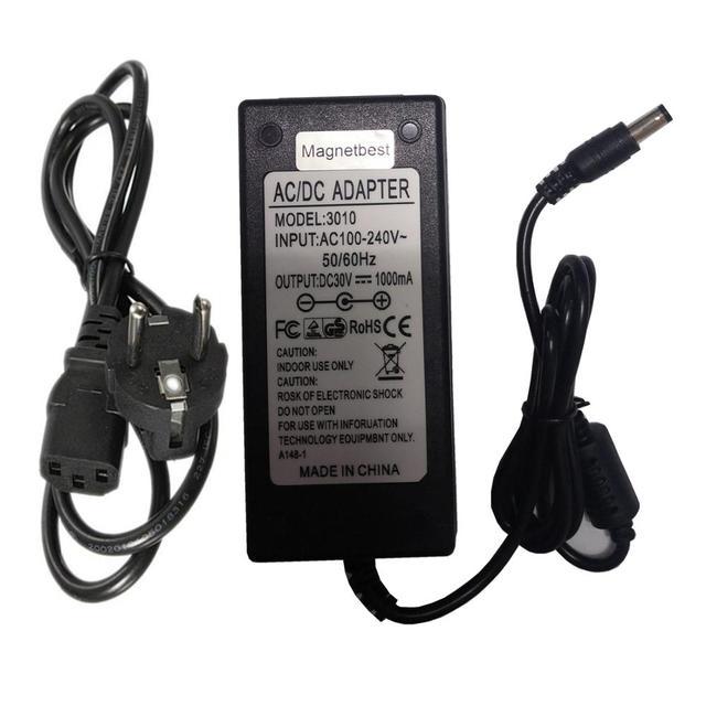 30V 1A 1000mA AC DC Adapter 30V1A 30W Universal Schalt Netzteil Ladegerät