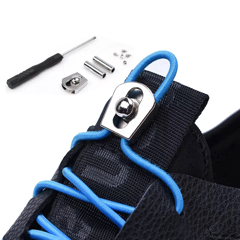 1 Pair New Elastic Shoelaces No Tie Shoe Laces Round Kids Adult Quick Locking Shoe Lace Outdoor Leisure Sneakers Lazy Laces