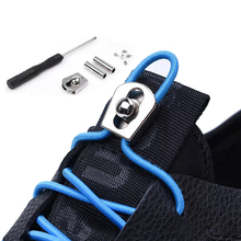 1 Pair New Elastic Shoelaces No Tie Shoe laces Round Kids Adult Quick Locking Shoe lace Outdoor Leisure Sneakers Lazy laces цена
