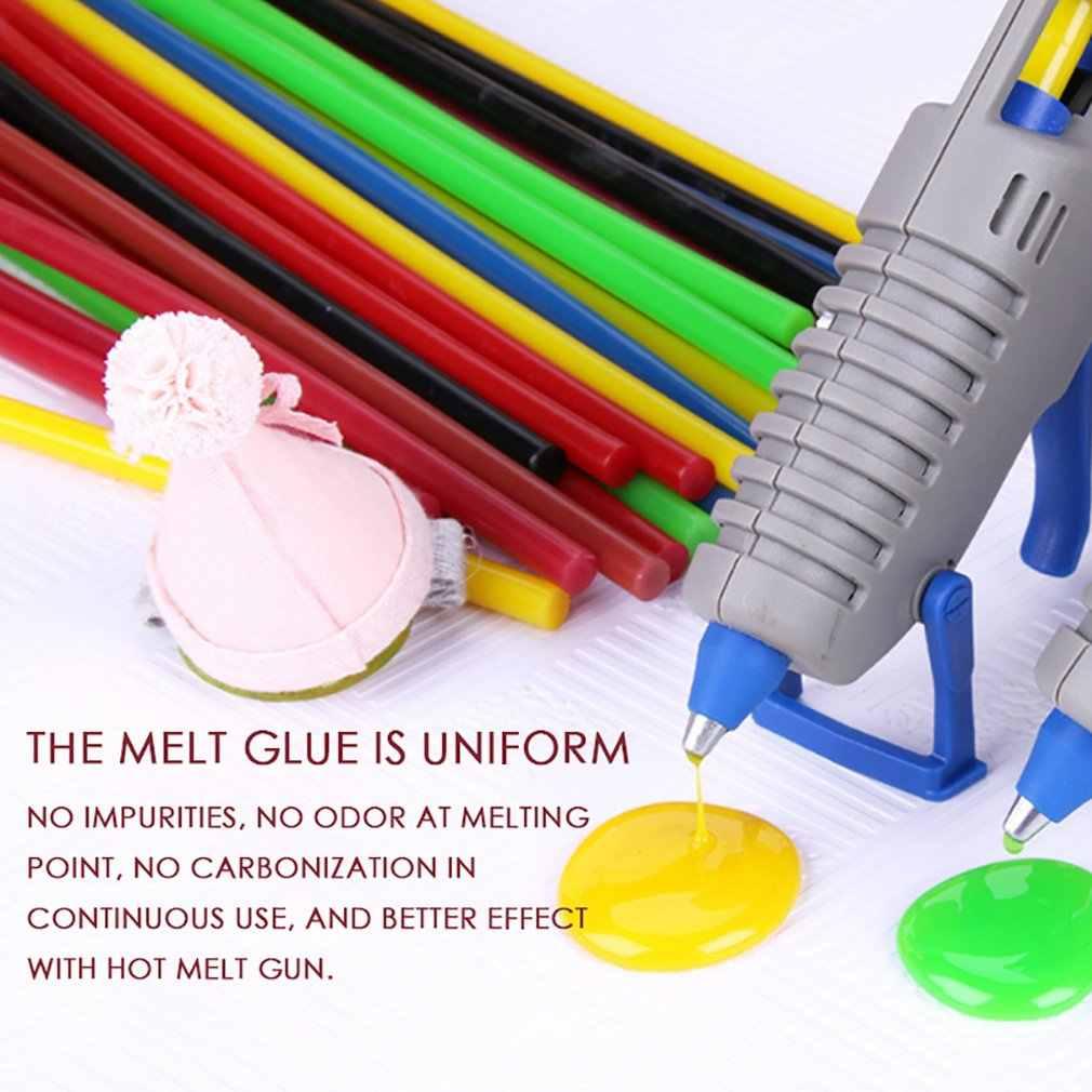 Renkli tutkal çubukları elektrikli tutkal tabancası Craft albüm tamir araçları için DIY manuel oyuncak tamir