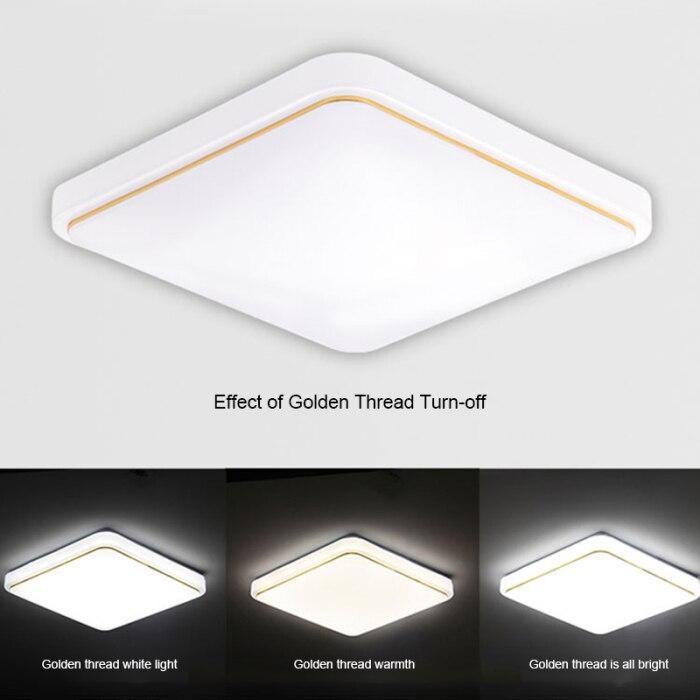 Lustre de teto alto led, luminária quadrada,