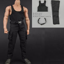 В наличии 1/6 scale мужской комплект одежды с черным жилетом