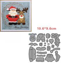 Santa Claus Christmas Reindeer dies in scrapbooking  christmas alinacrafts metal for Eve Card Making