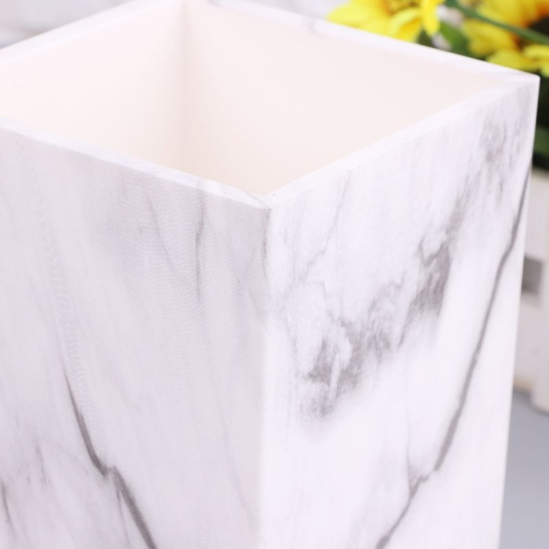 Marble Desk Pen Pencil Holder Case Box Makeup Brush Office Organizer Stationery AXYF