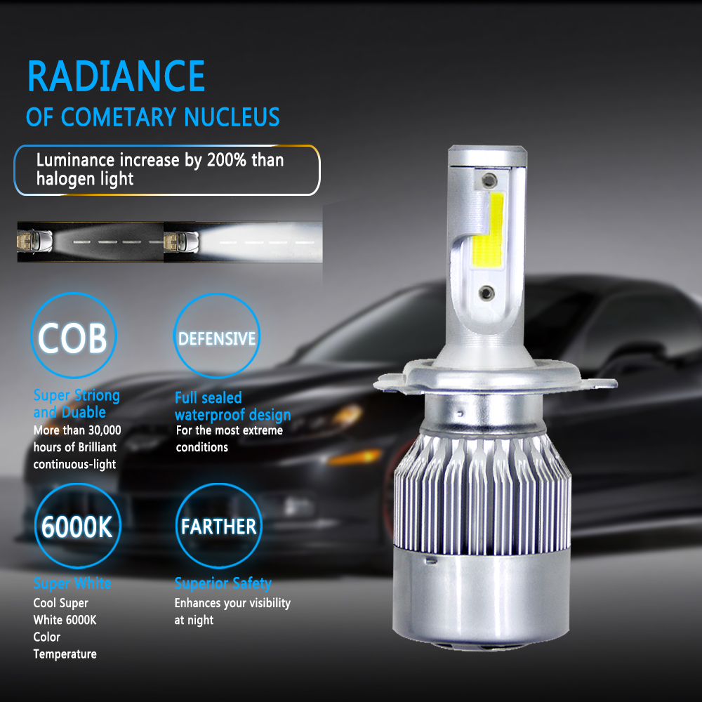 H34334c87ebed4c77ad99821e007072030 Muxall 8000LM/Pair LED Headlight Bulbs 72W Auto Lights Car H7 LED H1 H3 H27 H11 HB3 HB4 H4 H13 9004 9007 Car Styling Lamp
