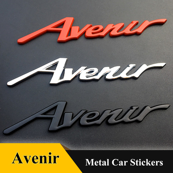 1pcs metal Avenir car truck stickers auto emblem decal Badge car styling for Buick benz VW BMW Toyota Honda FIAT VOLVO Chevrolet metal 3d v6 engine displacement car grill sticker badge v8 emblem stickers auto decal chrome car styling for toyato audi bmw vw