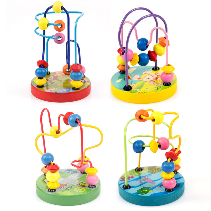 Best Seller-Beaded Bracelet Bead-stringing Toy Game Mini Small Bead-stringing Toy Animal Educational Toy Hand-Eye Coordination K