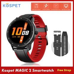 Kospet magia 2 Smartwatch 1.3 cal ekran dotykowy IP67 wodoodporna tętno Monitor ciśnienia krwi inteligentny zegarek Fitness Smart Watch mężczyźni