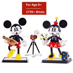 Disney Mickey Mouse Assembled Building Blocks  DIY Bricks Block Set Toys for Children Birthday Christmas Gift Toy 1739Pcs