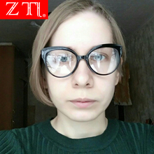 ZT Fashion Women Cat Eye Square Eyeglasses Frame Ultralight Myopia Glasses Uv400 Ladies Eyewear