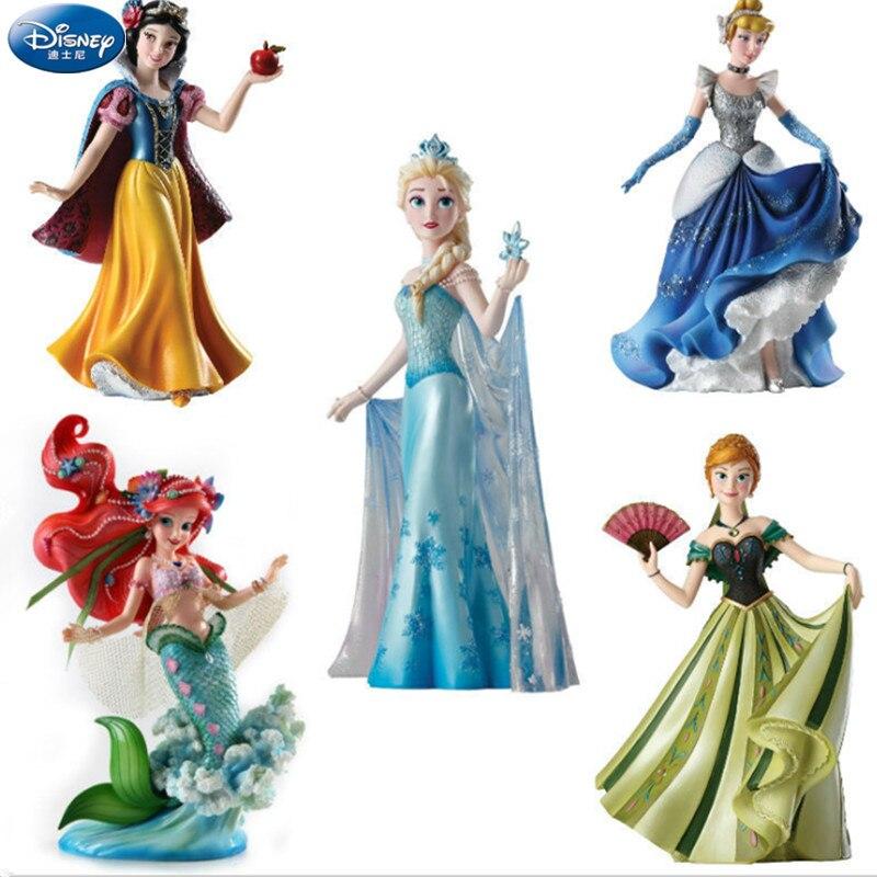 20CM Disney haut de gamme Aisha reine jasmin princesse cheveux longs princesse cendrillon statue ornement à la main modèle gâteau décoration