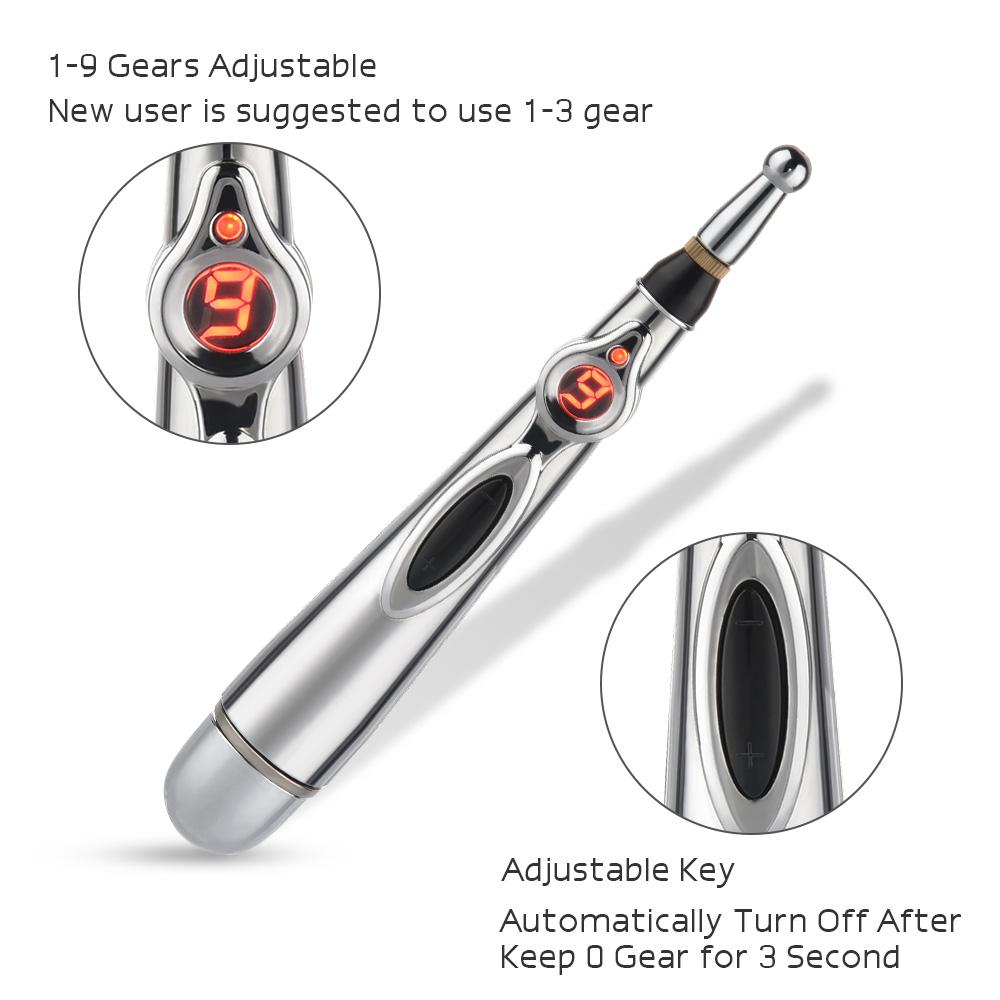 Electronic Acupuncture Pen Electric Meridians Laser Therapy Heal Massage Pen Meridian Energy Pen Relief Pain Tools Health Care 2