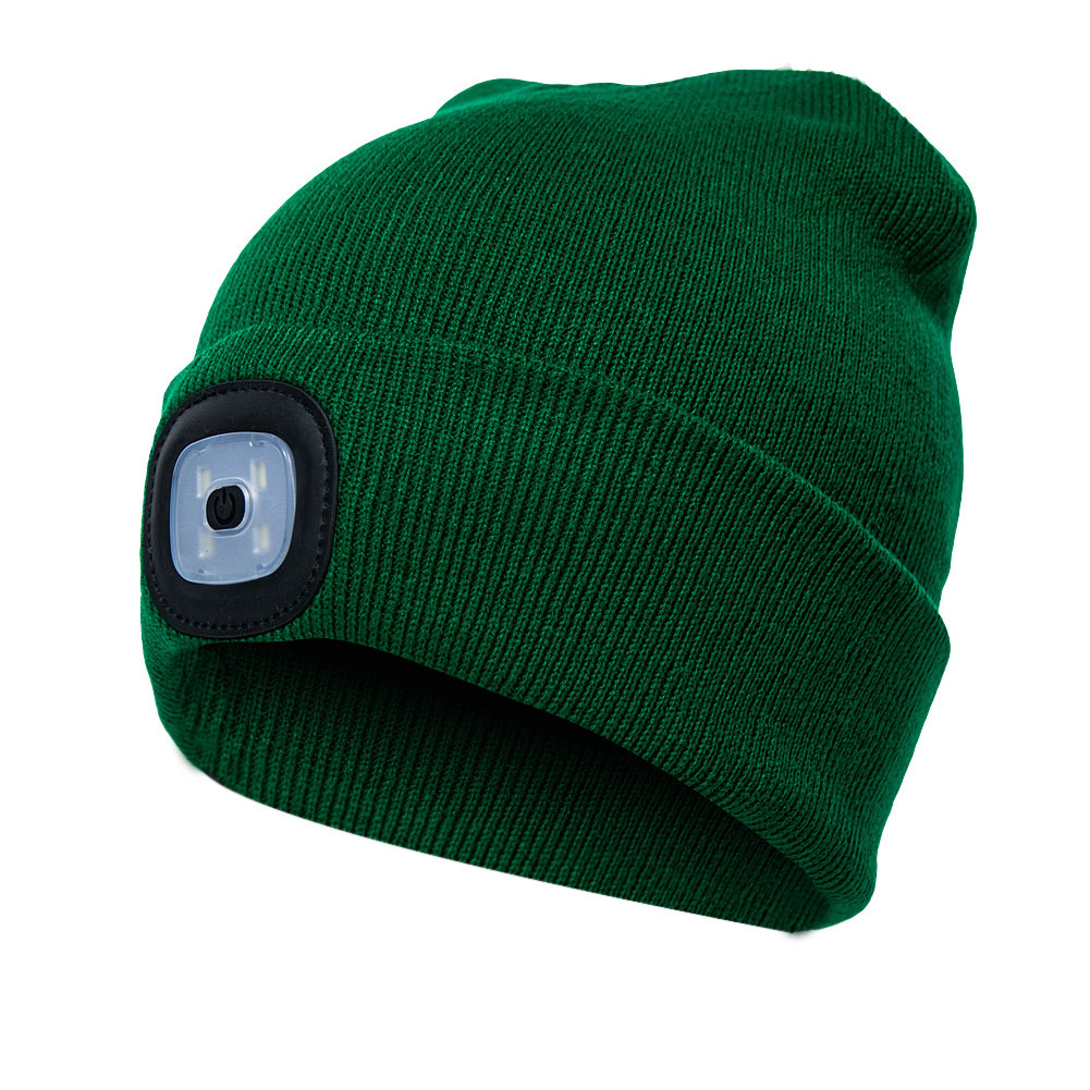 Unisex Autumn Winter LED Lighted Cap Warm Beanies Outdoor Fishing Running Beanie Hat Flash Headlight Camping Climbing Caps #1029