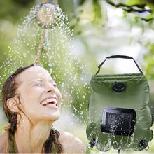20л портативная солнечная водная сумка с подогревом для купания