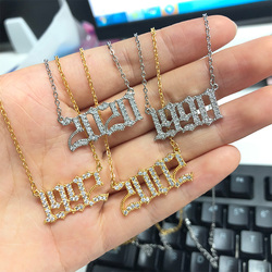Gold Chain Birth Year Numeral Pendant Necklace For Women Men's Memorial Jewelry Bff Birthday Souvenir Gifts 1997 1993 1986 1998