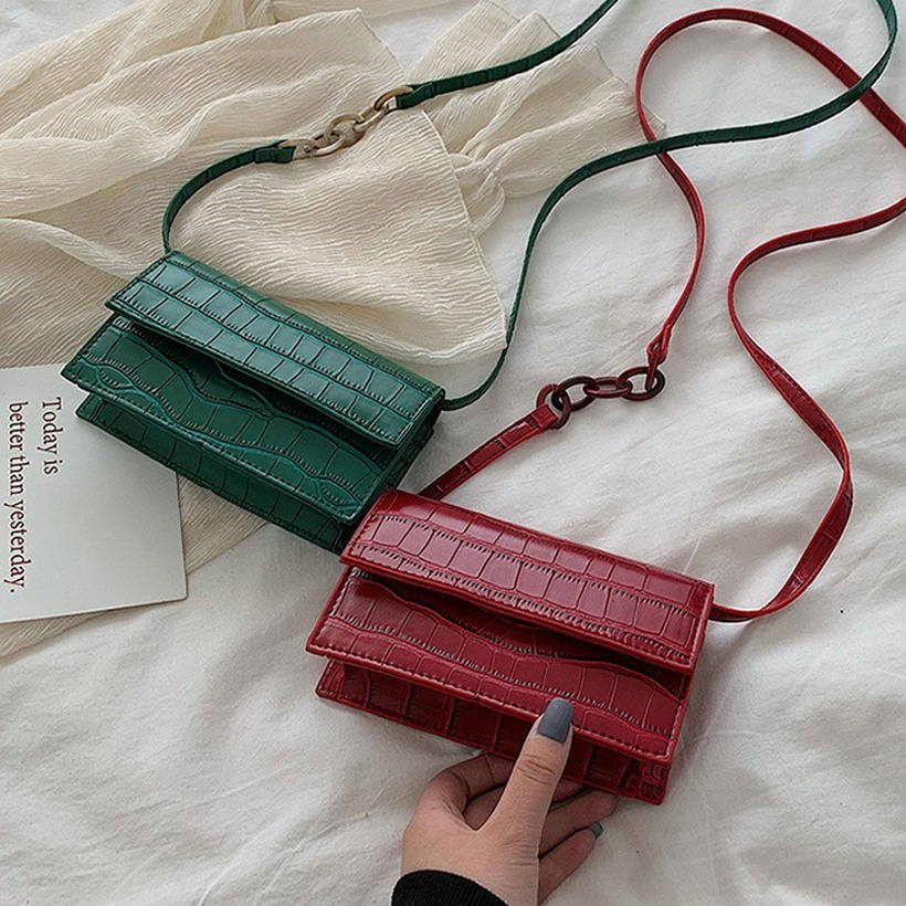 Fashion Stone Pattern PU Leather Crossbody Bags For Women Small Shoulder Messenger Bag Ladies Mini Travel Handbags