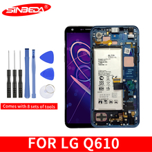 Sinbeda 5.5100% New For LG Q7 LCD Display Touch Screen Digitizer Replacement Frame For LG Q7 LCD Q610 LCD цена