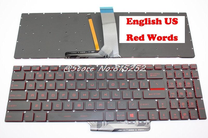 FQ Laptop Tastatur f/ür MSI GP62 2QE-215 2QE-218 2QE-275 6QF-1462CN 6QG-1071 6QG-1281CN GP62MVR 6RF-215CN Schwarz Amerikanische Version Rahmenlos Keine Hintergrundbeleuchtung